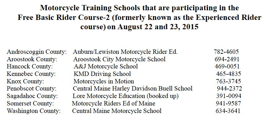 2015 Advanced Rider Course