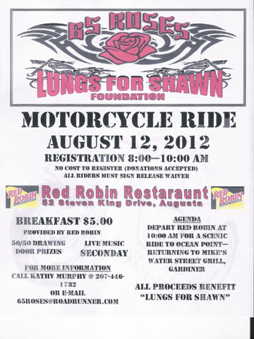 Benefit Ride for Lungs for Shawn Foundation