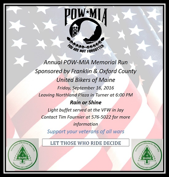 2016 POW-MIA Memorial Ride