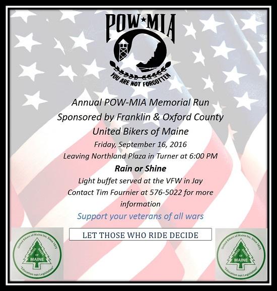 2016 POW-MIA Memorial Ride