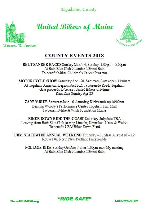 Sagadahoc County 2018 Events