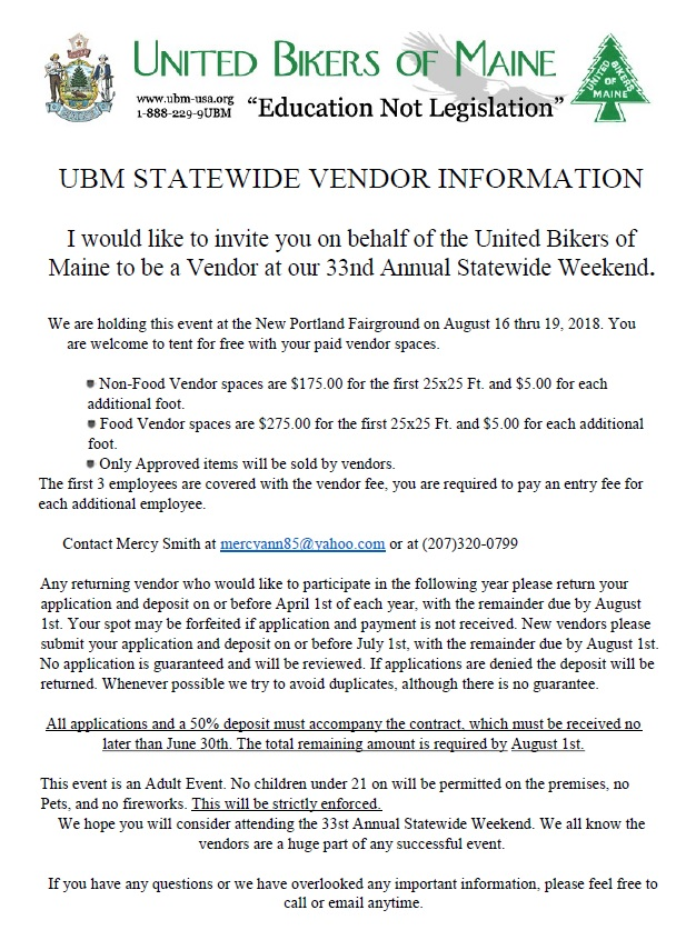 2018 Statewide Vendor Contract