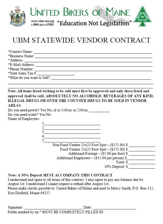 Vendor Contract Romes Danapardaz