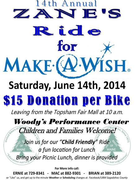 2014 Zane's Ride for Make-A-Wish