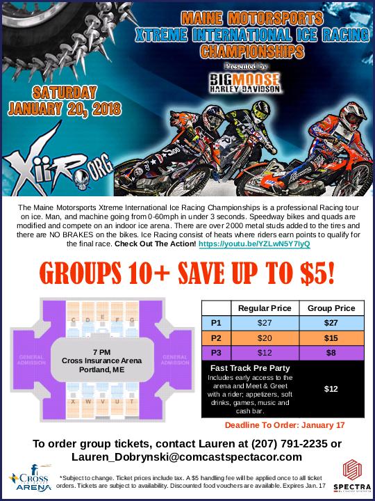 Ice Racing Poster