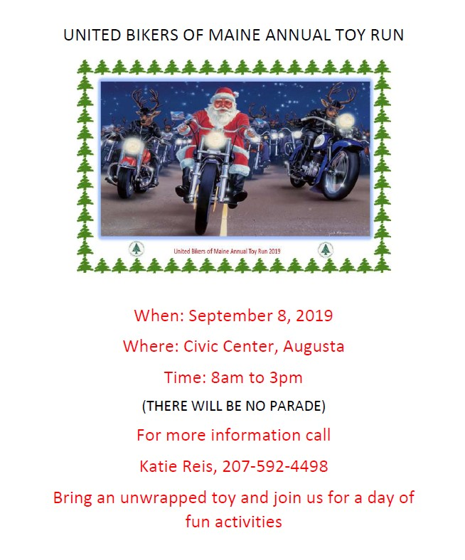 Toy Run 2019 poster